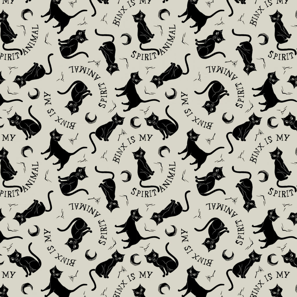 Disney's Hocus Pocus Binx Spirit Animal on Cream By Camelot Fabrics