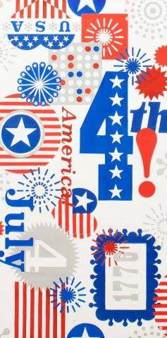 Happy Birthday USA white