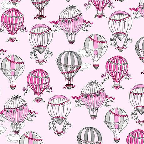Hot Air Balloons Pink