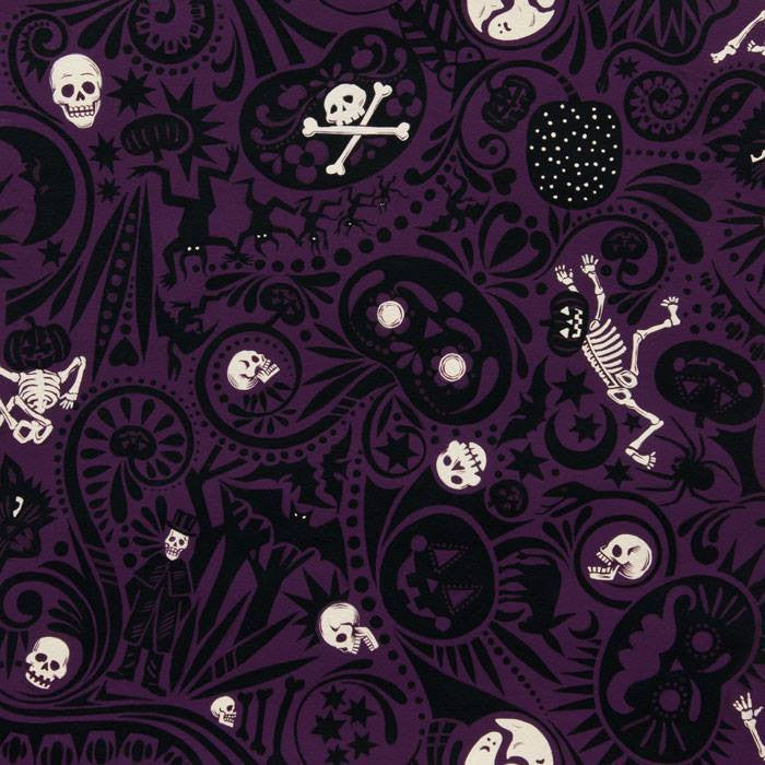Midnight Muertos Skeleton Skull Mexican Cotton