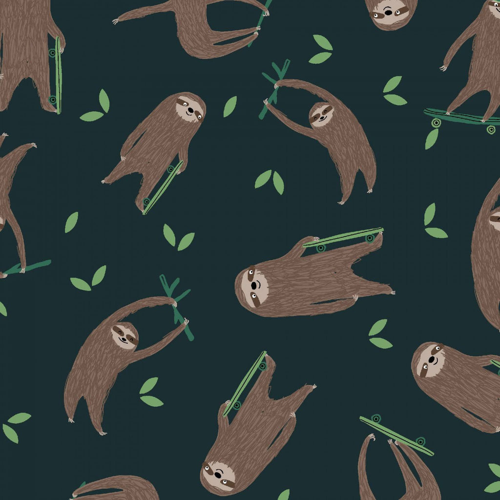 Midnight Sloths Flannel