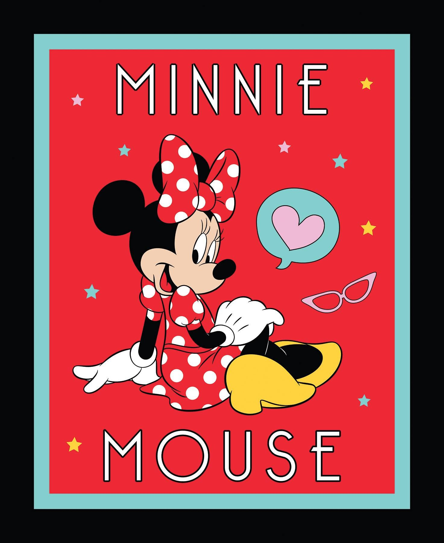 Red Minnie Mouse Panel