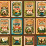 Camping Mottos Patches - Multi Panel