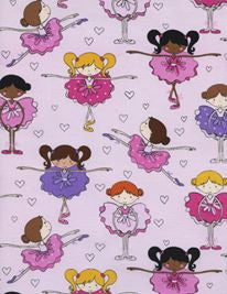 Pink Ballerina Scatter Cotton