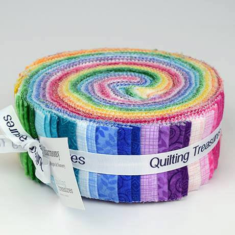 Quilting Treasures Harmony Flannel Jelly Roll