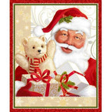 Christmas Red St Nick Panel
