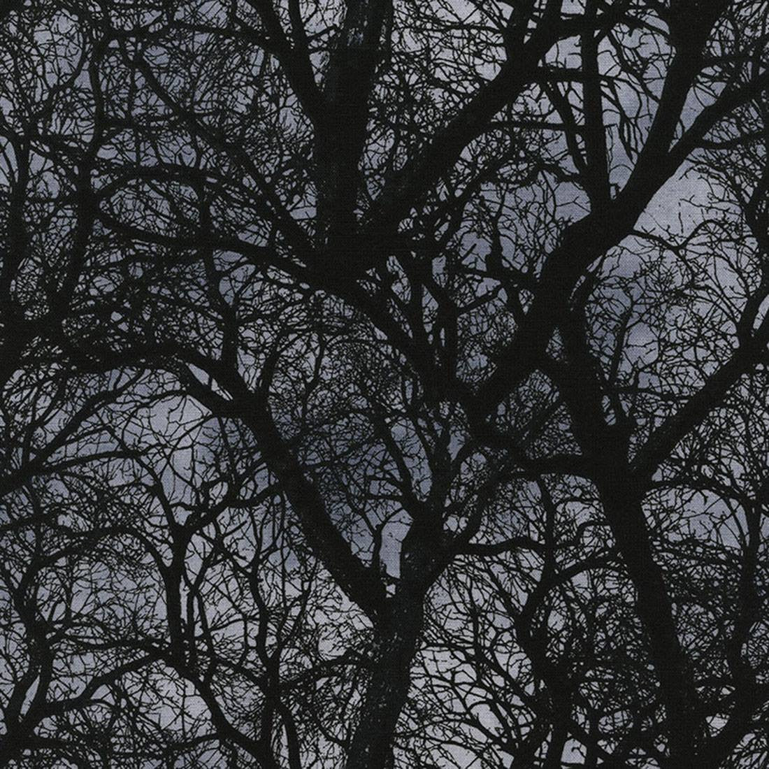 Wicked Eve Dark Tree Branches Cotton