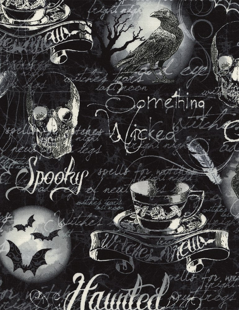 Wicked Eve Gothic Halloween Motifs Cotton