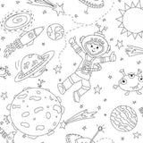 Color Me Fabric Space Boys Scatter Cotton