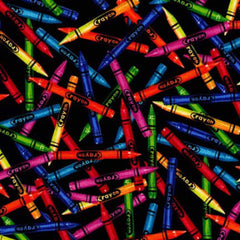Coloured Crayons Scatter Cotton