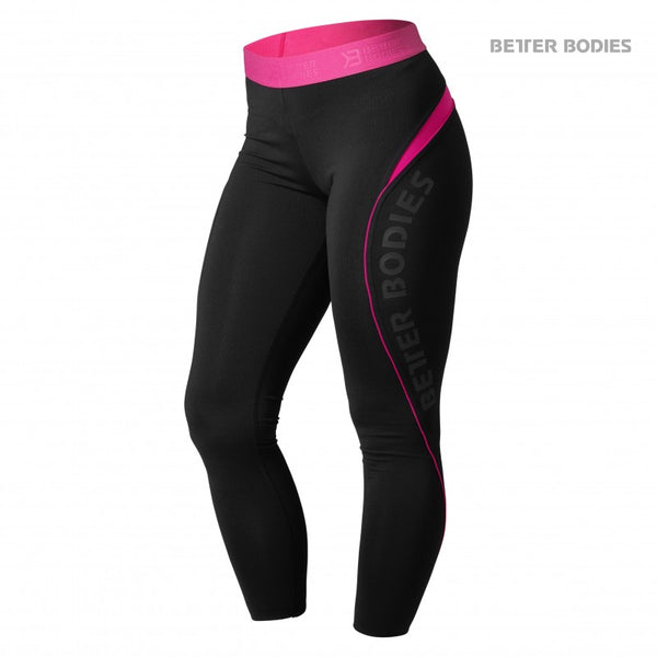Better Bodies Fitness curve tights, black /pink