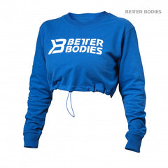Better Bodies Madison cropped ls Strong Blue