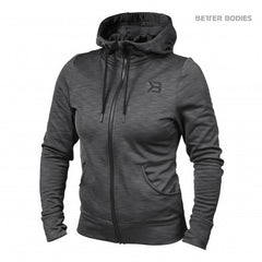 Better Bodies women Performance Hoodie, Anthracite melange
