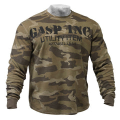 Gasp THERMAL GYM SWEATER, CAMOPRINT
