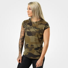 Better Bodies Astoria Tee  Dark green camo