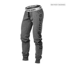 Better Bodies Slim sweatpant, antracite melange