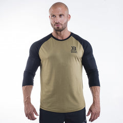 Better Bodies Mens baseball tee,Military green