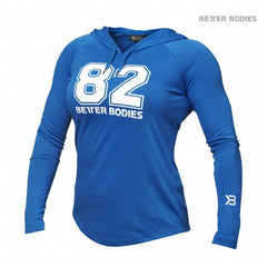 Better Bodies women Varsity Hoodie, bright blue