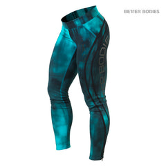 Better Bodies Grunge tights, Aqua blue