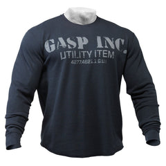 Gasp THERMAL GYM SWEATER, ASPHALT