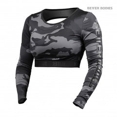 Better Bodies Chelsea cropped l/s, dark camo