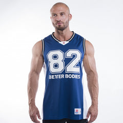 Better Bodies Tip Off Tank, Navy