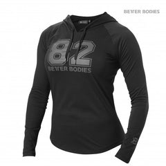 Better Bodies women Varsity Hoodie, black