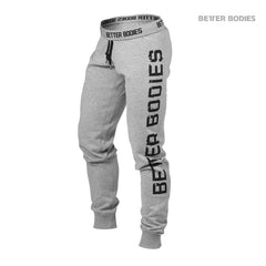 Better Bodies Slim sweatpant,Grey melange