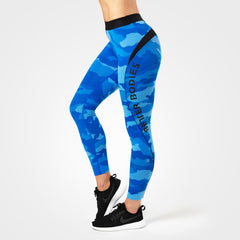 Better Bodies Fitness curve tights, blue camo