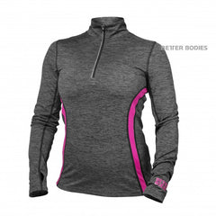 Better Bodies Performance mid ls, Graphite/pink