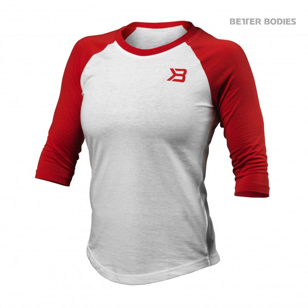 Better Bodies Womens baseball tee Scarlet Red