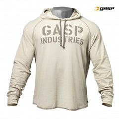 Gasp Long sleeve thermal hoodie, cement