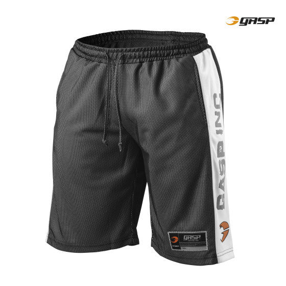 Gasp NO1 MESH SHORTS BLACK/WHITE