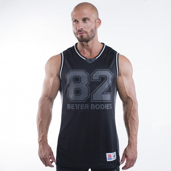 Better Bodies Tip Off Tank, black/grey