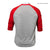 Better Bodies Mens baseball tee,red/grey melange