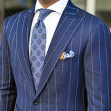 Knight's Move Silk Twill Pocket Square Outfit - R. Culturi