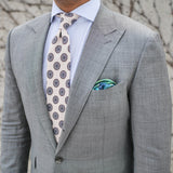 Nature Merveilleuse Silk Twill Pocket Square Outfit - R. Culturi