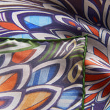 Colorful Wind Silk Twill Pocket Square Hem Close-up - R. Culturi