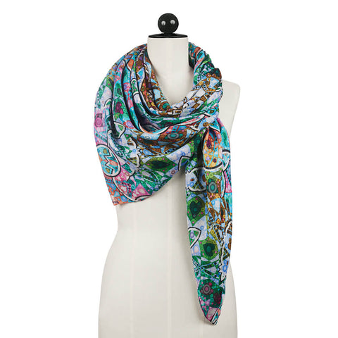 Hearts in Transition Scarf Unfolded - R. Culturi
