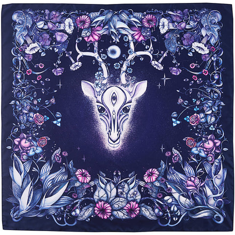 Night Gazelle Scarf Unfolded - R. Culturi
