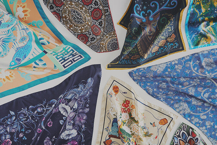 Artwork Pocket Squares, Scarves, and Neckties - R. Culturi