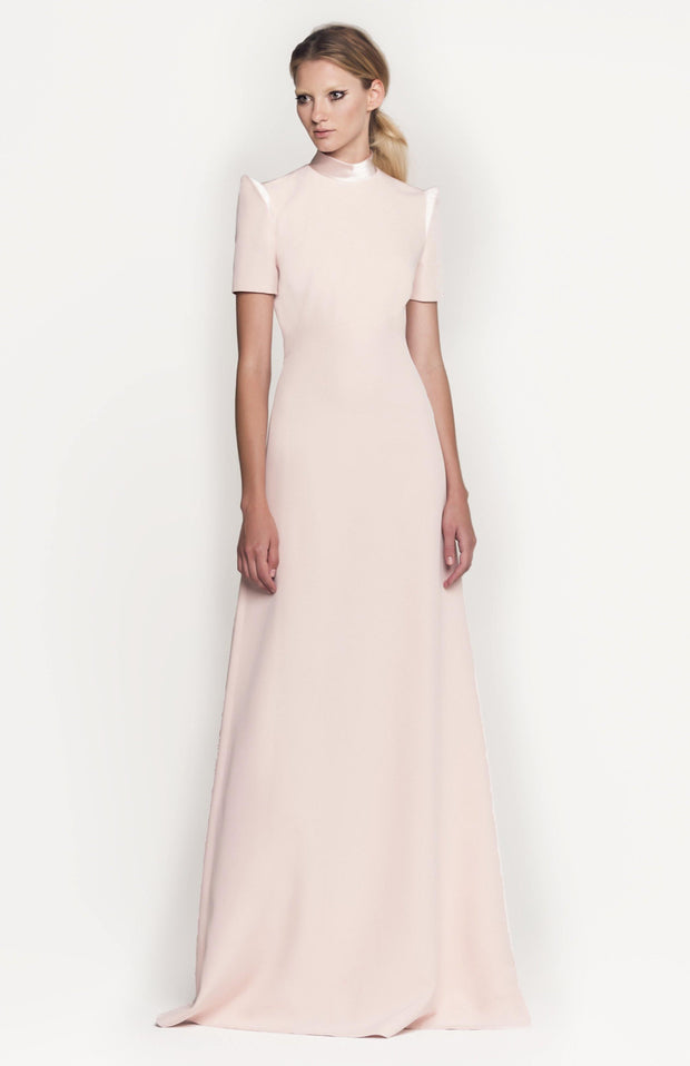 Damenia | Blush Silk A Line Dress