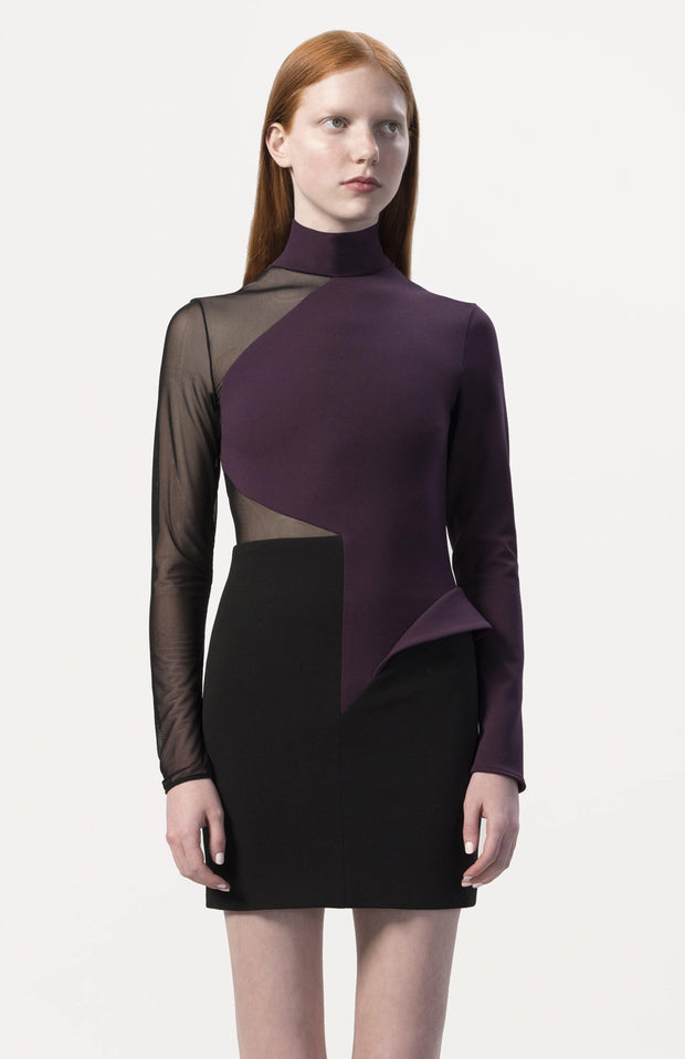 Iereea | Long Sleeve Color Block Dress