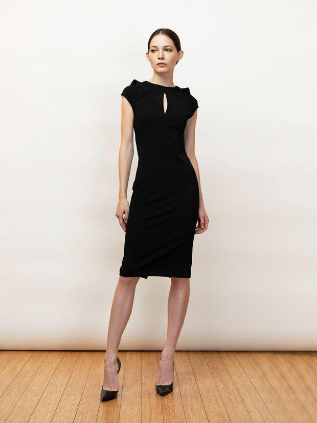Vasilissa Stretch Crepe Draped Dress