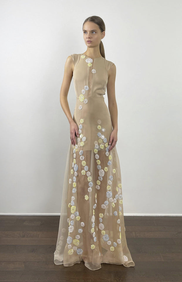 Silk organza gown
