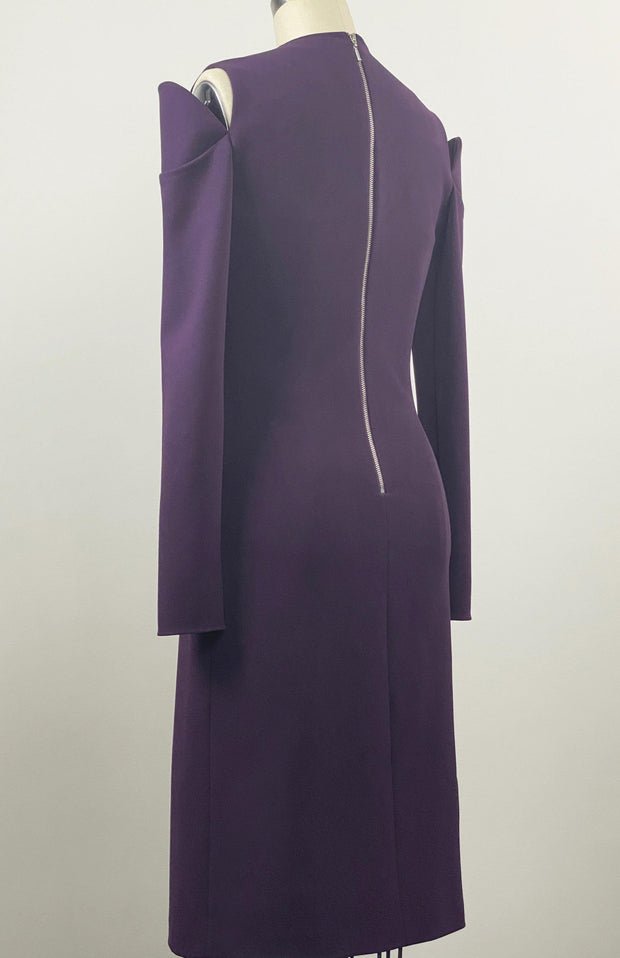 Inia Stretch Crepe Wrap Dress - Back Detail