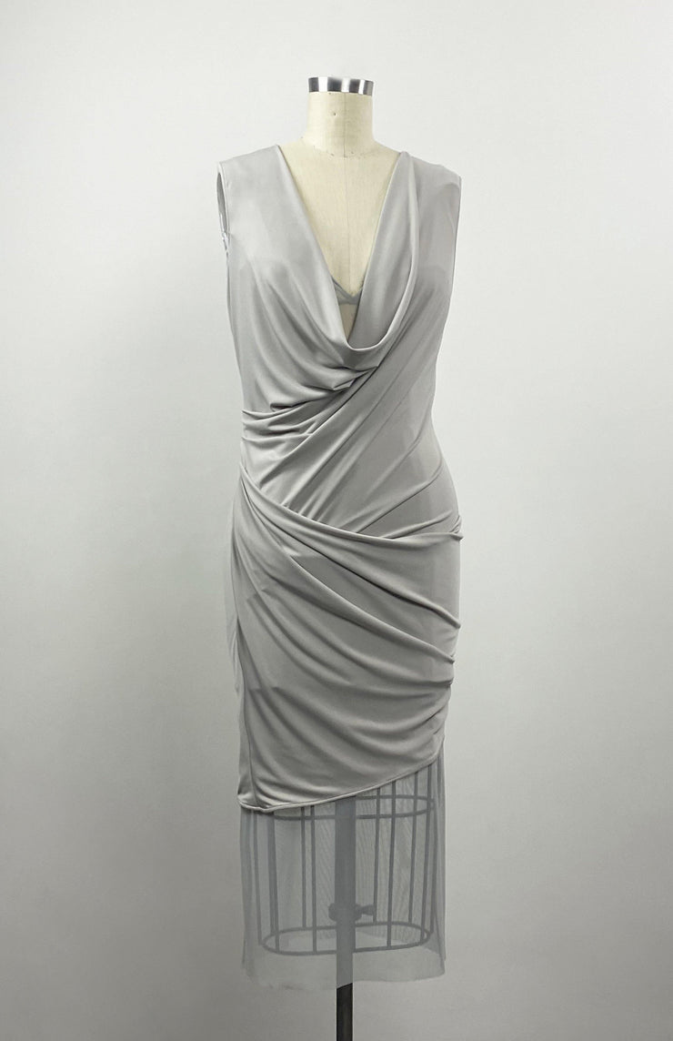 Iremia - Modern Grecian Draped Jersey Dress