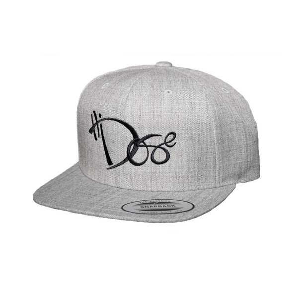 6-Panel Light Wool Grey - Black Handstyle