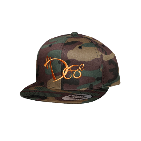 6-Panel - Mango Orange Handstyle - Camo