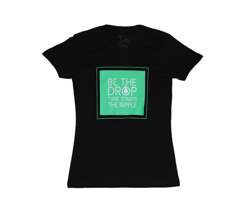 Women's Mint Slogan - Boyfriend Tee